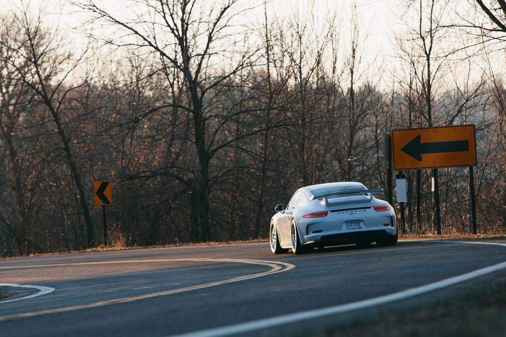 311RS Porsche 911 991 GT3 BBS E88 Michelin Pilot Sport Cup 2 BBi Autosport Akrapovic titanium exhaust Ryan Gates Peter Lapinski Orono Minnesota sunrise