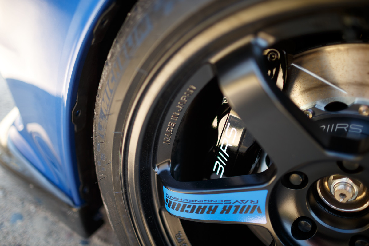 311RS Blue Mitsubishi Evo X Volk TE37