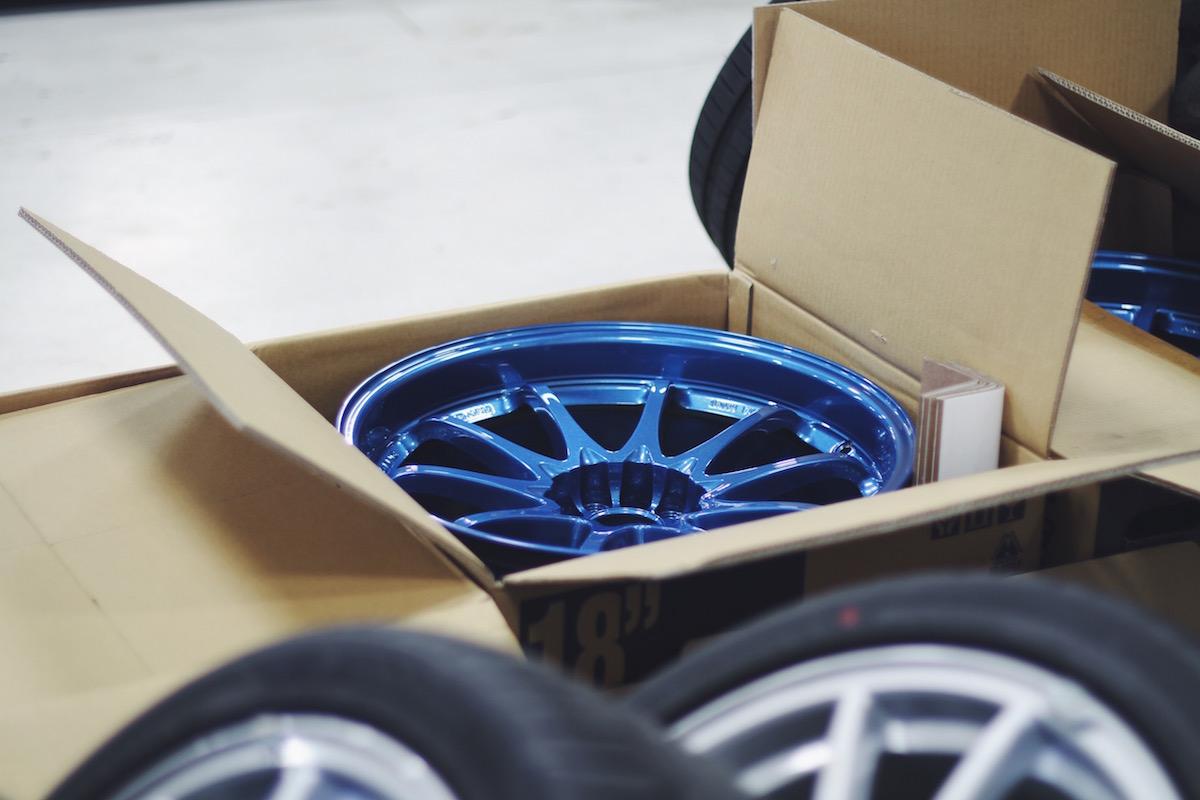 311RS Blue Mitsubishi Evo X Volk Ce28n