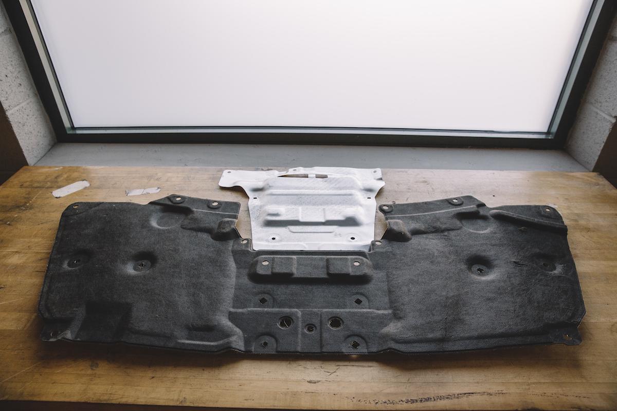 311RS Mitsubishi OEM Evo X heat shield