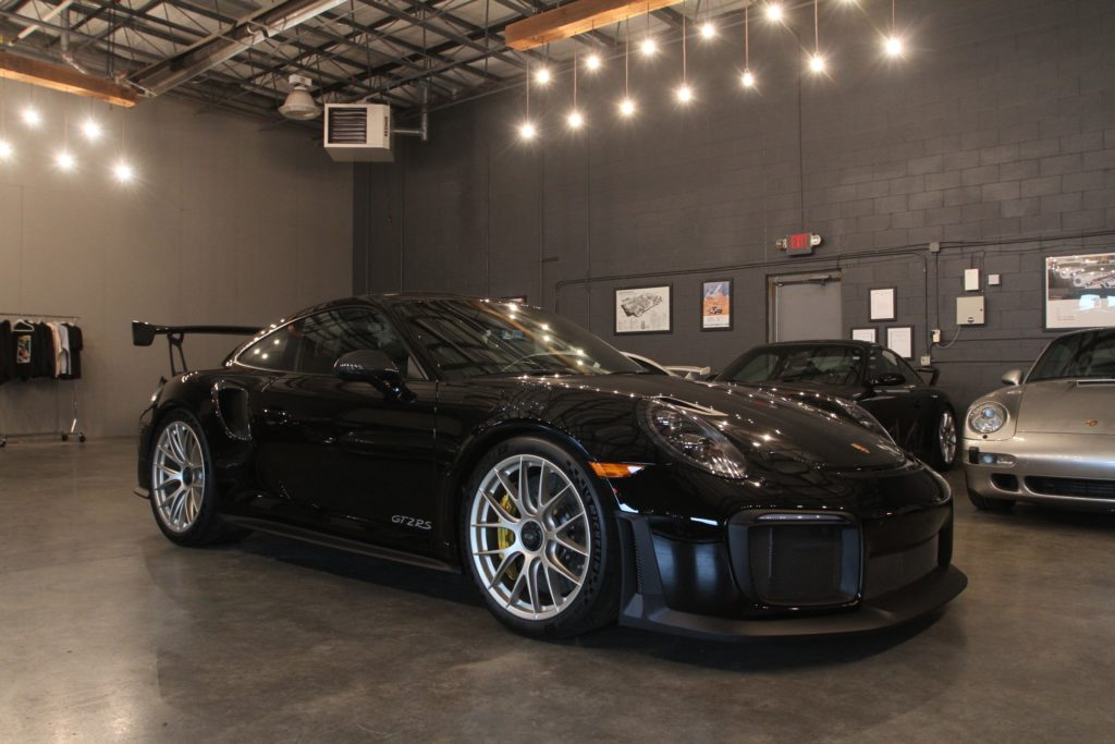 Porsche GT2RS at 311RS HQ 911 991 GT2 RS Weissach Black Gold MAgnesium Satin White Gold metallic BBS Michelin Pilot Sport Cup 2R tire Manthey Racing water tank exhaust titanium roll bar