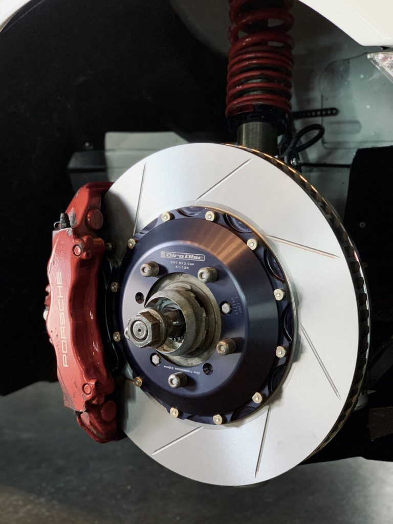 Girodisc rotors on 311RS Porsche 997 GT3 Cup